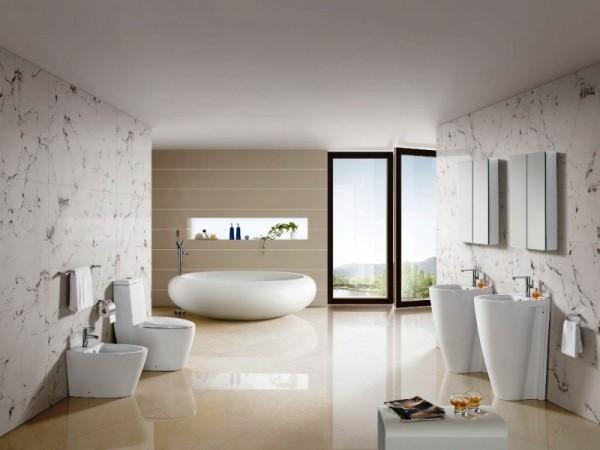 Vasca in un bagno moderno
