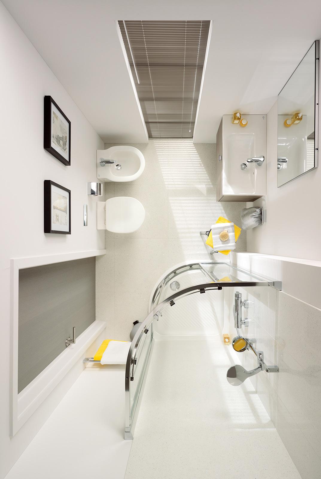 Progetti Di Bagni Piccoli le dimensioni dei sanitari ideali per il tuo bagno piccolo